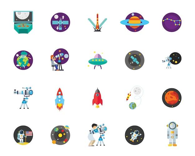 Conjunto de ícones de astronomia