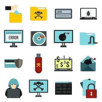 Conjunto de ícones de atividade criminal