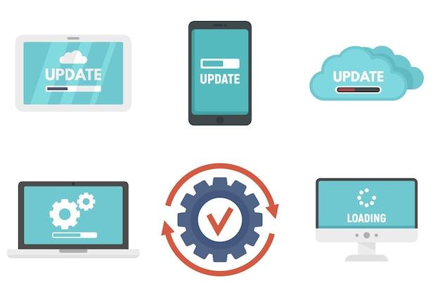 Conjunto de ícones de atualização do sistema