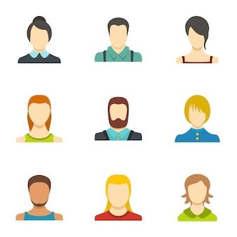 Conjunto de ícones de auto identificação, estilo simples