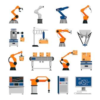 Conjunto de ícones de automação