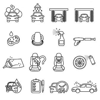 Conjunto de ícones de automóvel