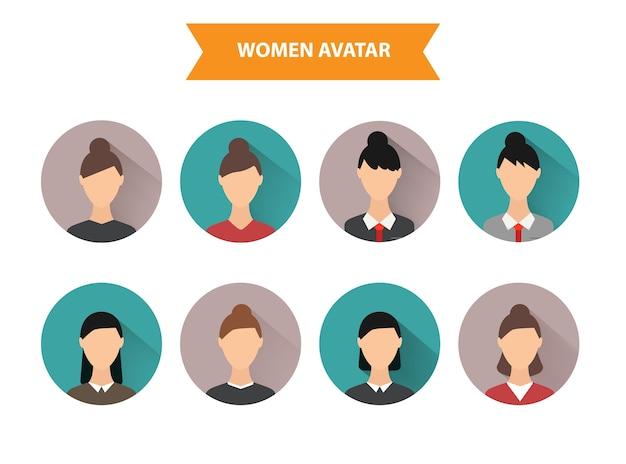 Conjunto de ícones de avatar.
