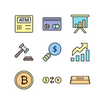 Conjunto de ícones de bancos