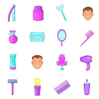 Conjunto de ícones de barbearia