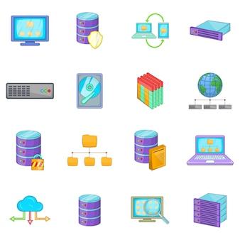Conjunto de ícones de base de dados
