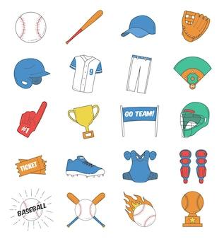 Conjunto de ícones de baseball