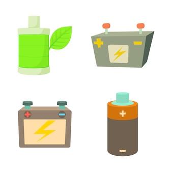 Conjunto de ícones de bateria