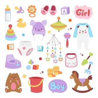 Conjunto de ícones de bebê.
