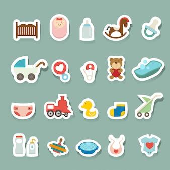 Conjunto de ícones de bebê