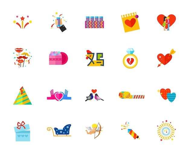 Conjunto de ícones de bens de férias