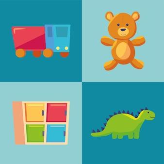 Conjunto de ícones de berçário