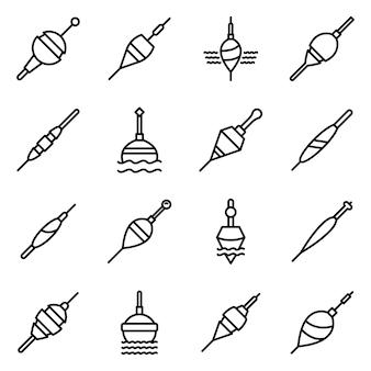 Conjunto de ícones de bobber