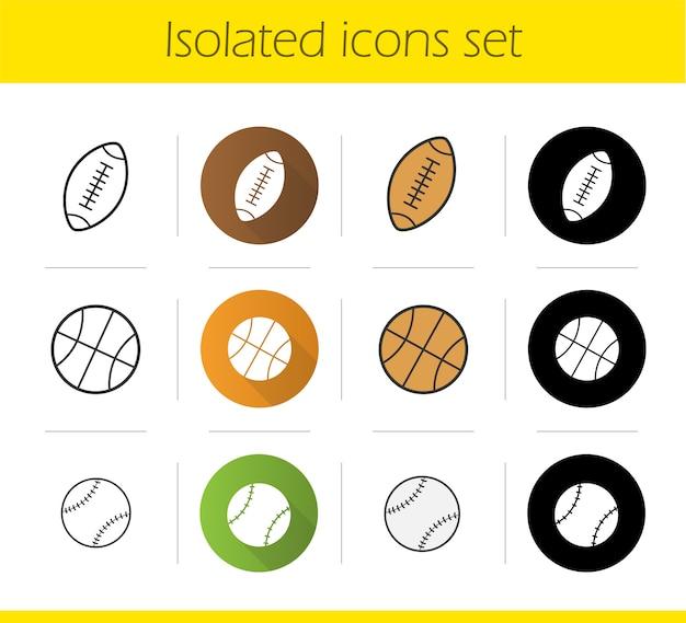 Conjunto de ícones de bolas de esporte