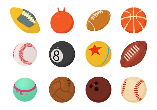 Conjunto de ícones de bolas