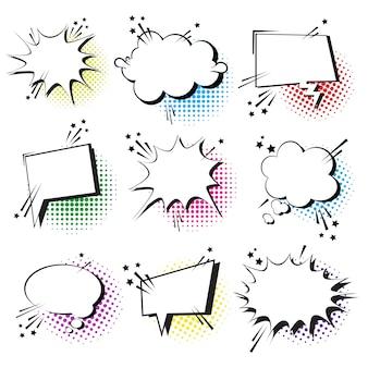 Conjunto de ícones de bolha de bate-papo