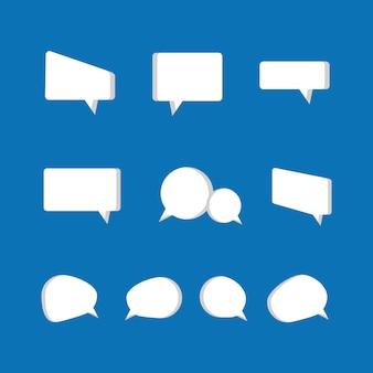 Conjunto de ícones de bolhas de discurso