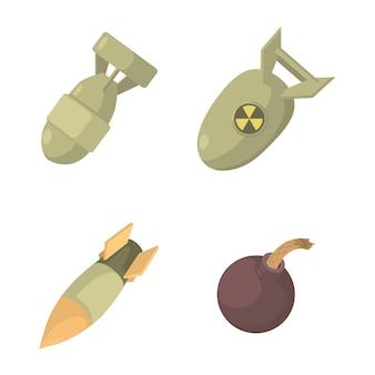 Conjunto de ícones de bomba