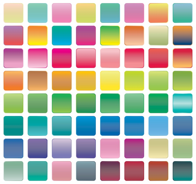 Conjunto de ícones de botão gradiente