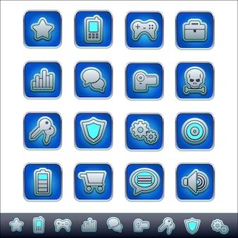 Conjunto de ícones de botões