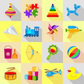 Conjunto de ícones de brinquedo.