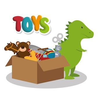 Conjunto de ícones de brinquedos de crianças