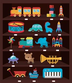 Conjunto de ícones de brinquedos