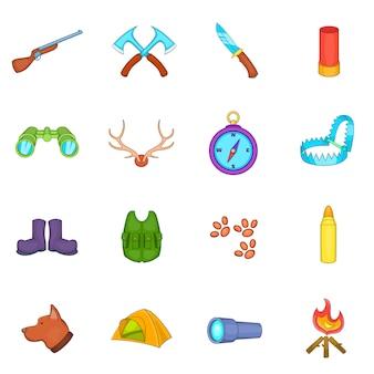Conjunto de ícones de caça