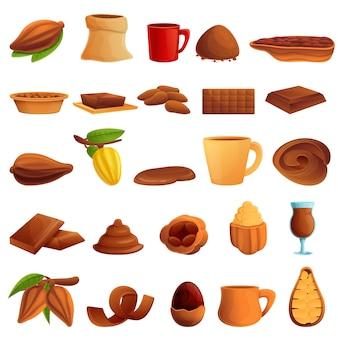 Conjunto de ícones de cacau