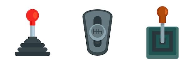 Conjunto de ícones de caixa de velocidades