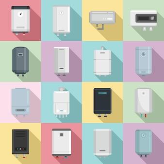 Conjunto de ícones de caldeira