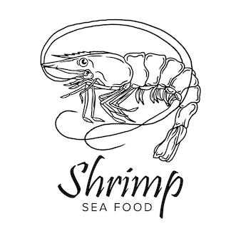 Conjunto de ícones de camarão camarão. camarão cozido, desenho em um fundo branco. coleta de camarões, camarões sem casca, camarões de carne, sushi. ilustração vetorial realista para banner, promoção
