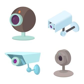 Conjunto de ícones de câmera de segurança