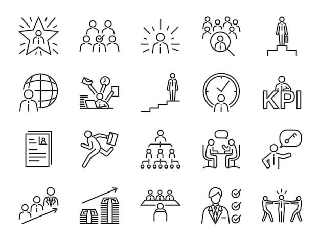 Conjunto de ícones de caminho de carreira