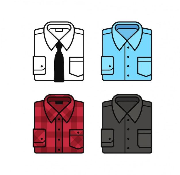 Conjunto de ícones de camisa