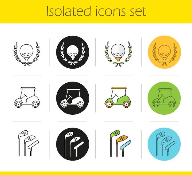 Conjunto de ícones de campeonato de golfe