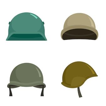 Conjunto de ícones de capacete do exército
