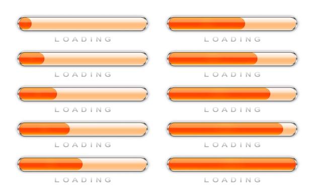 Conjunto de ícones de carregamento.