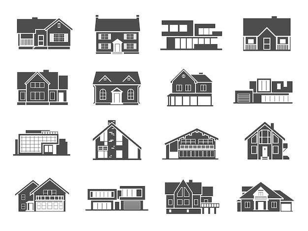 Conjunto de ícones de casa