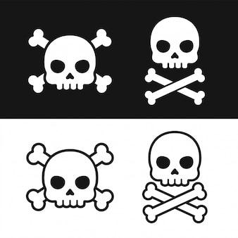 Conjunto de ícones de caveira