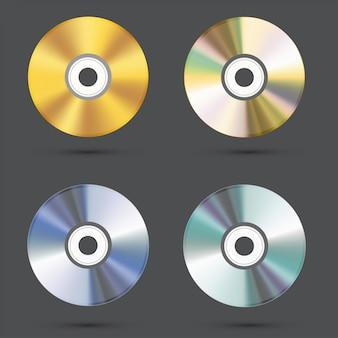 Conjunto de ícones de cd
