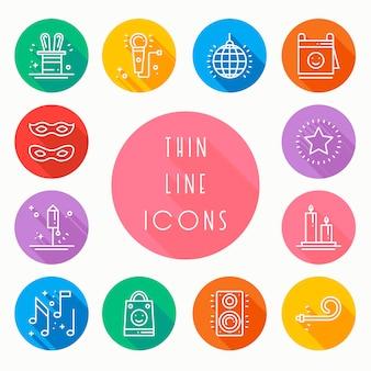 Conjunto de ícones de celebração de festa