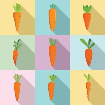 Conjunto de ícones de cenoura