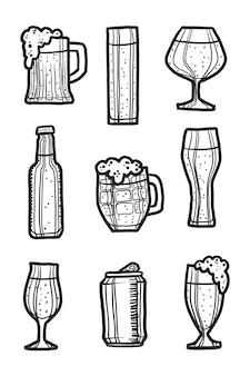Conjunto de ícones de cerveja