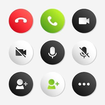 Conjunto de ícones de chamada telefônica