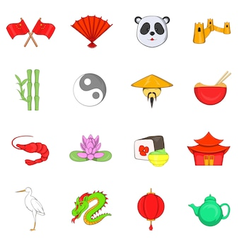 Conjunto de ícones de china