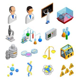 Conjunto de ícones de ciência