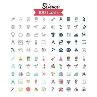 Conjunto de ícones de ciência.