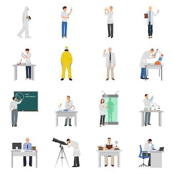 Conjunto de ícones de cientista