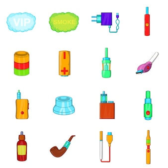 Conjunto de ícones de cigarros eletrônicos